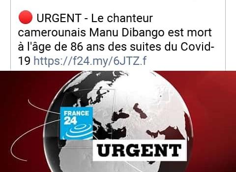 Interview de MANU DIBANGO : Quarantenaine du CERDOTOLA