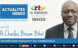 21 mars 2021 : le Professeur Charles Binam Bikoi est l'invité de Actualités Hebdo sur la Crtv