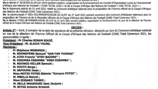 Le Pr Charles Binam Bikoi désigné président du jury pour la sélection de l'hymne de la CAN Total 2022