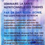 Séminaire de santé nutritionnelle des femmes par Dr Dapi au CERDOTOLA